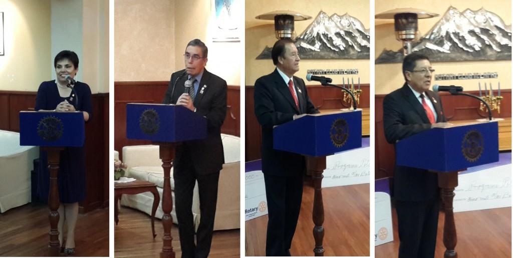 AG M.Eugenia Montes de Oca, VPCD Jose Ignacio Carreno, AG Hector Bustillos, GD Eduardo irusta