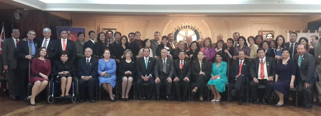 Rotarios de los clubes de la ciudad de La Paz