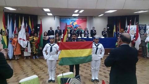 Rotary Club Cochabamba rinde homenaje a la Patria
