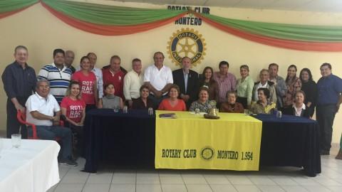 Visita del Gobernador al Rotary Club Montero