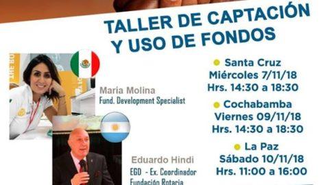 TALLER DE CAPTACIÓN Y USO DE FONDOS EN NOVIEMBRE!!!