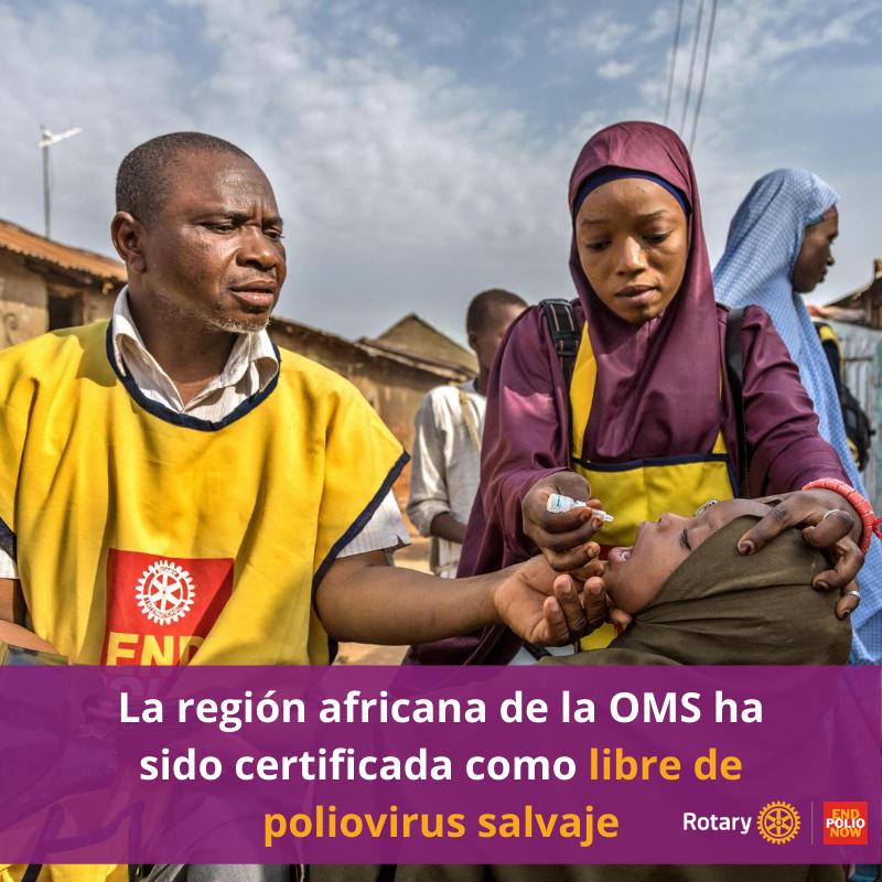 Africa es certificada por la OMS como libre de poliovirus salvaje