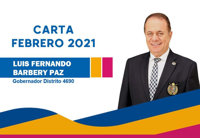 Febrero 2021: Mensaje Gobernador Luis F. Barbery Paz